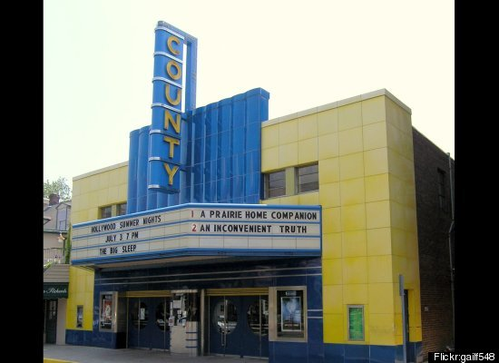 """<a href=""""http://www.countytheater.org/about.html"""" target=""""_hplink"""">Built in 1938</a>, the theater is now preserved by a local"""