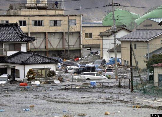 A magnitude 8.9 quake strikes off the northeast coast of Japan, sending a tsunami across the Pacific and killing a still-unde