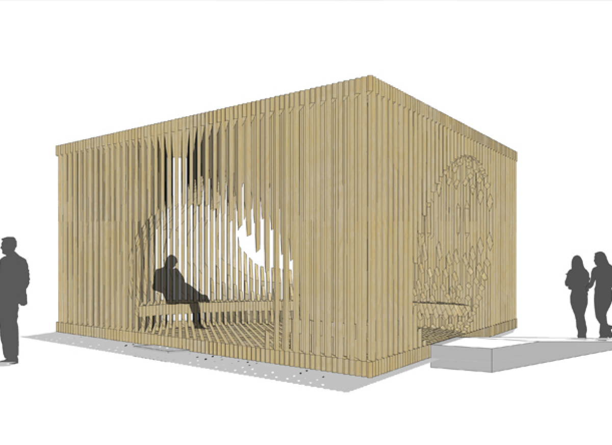 South View. CGI of Genesis: the commission by David Adjaye for Design Miami/ 2011. Renderings courtesy of Adjaye Associates.