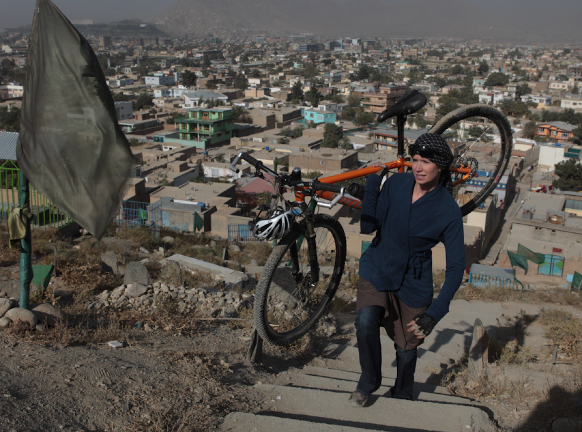 Walking up one of the many hillsides in Kabul, Afghanistan 2009