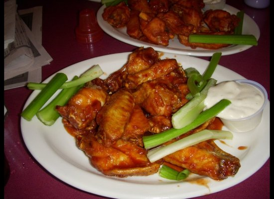 "Yes, chicken wings are available in abundance at just about every airport, but where else besides <a href=""http://www.buffalo"