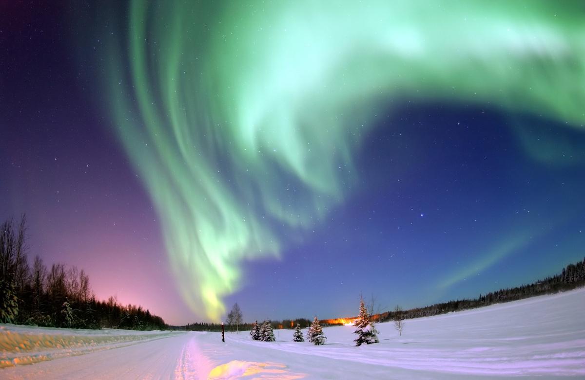 Aurora Borealis, from Bear Lake, Alaska.