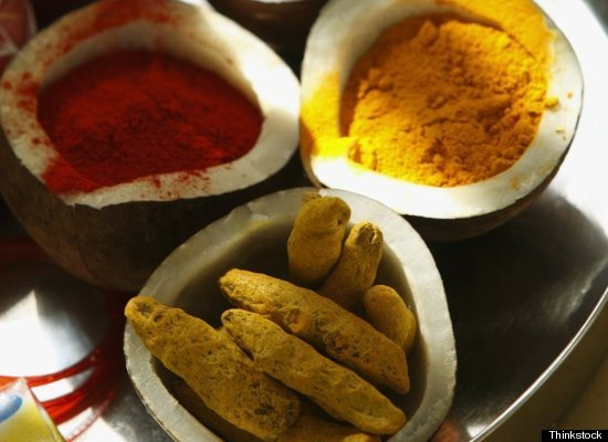 Turmeric -- the herb that gives a curry its distinctive yellow color -- is also an antiseptic with anti-inflammatory properti