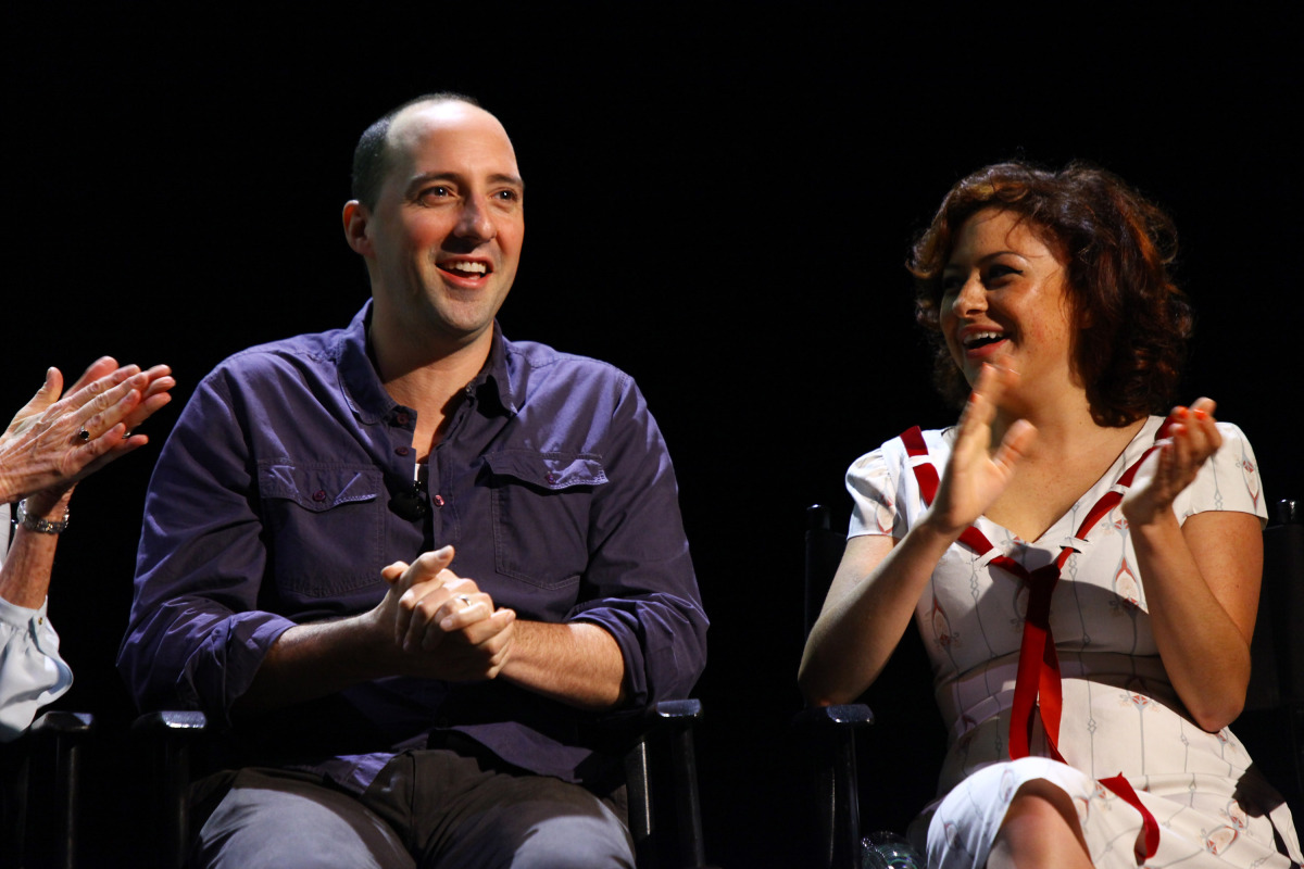 NEW YORK, NY - OCTOBER 02:  (EXCLUSIVE COVERAGE)  Tony Hale (L) and Alia Shawkat attend The 2011 New Yorker Festival: 'Arrest