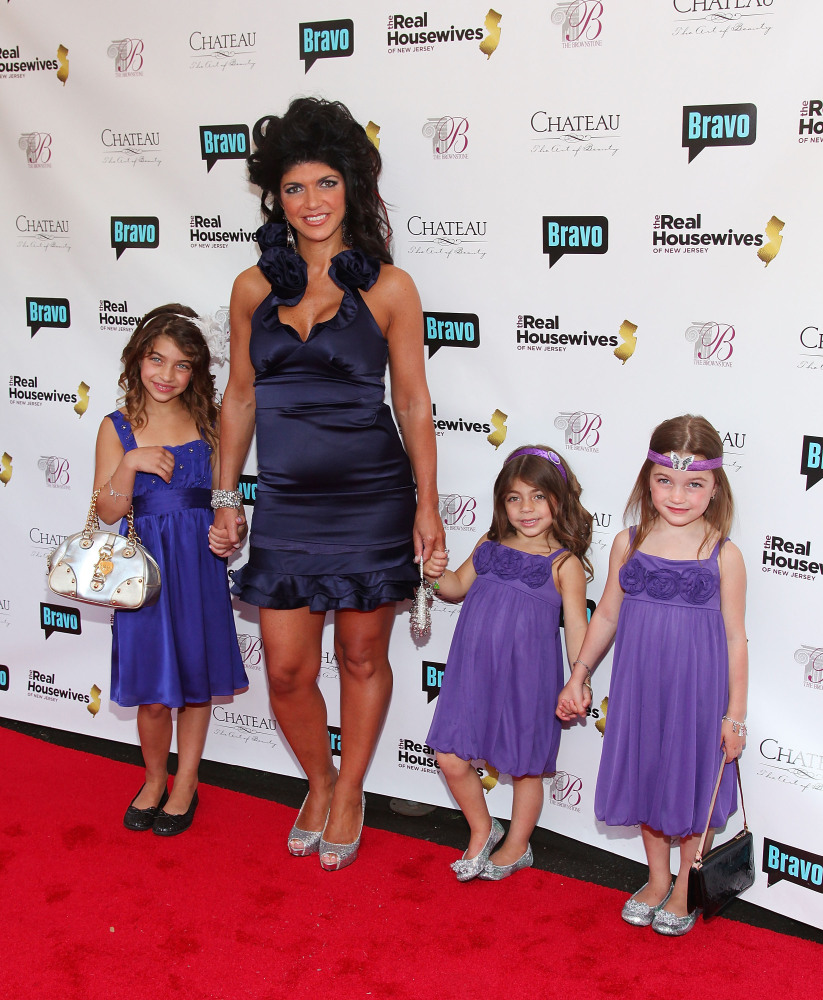 "(L-R) Television personalities Gia Giudice, Teresa Giudice, Milania Giudice and Gabriella Giudice attend Bravo's ""The Real Ho"