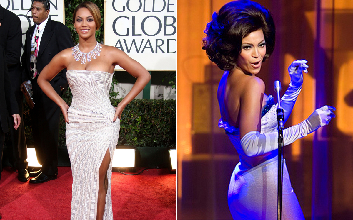 "The role that Beyonce played in ""Dreamgirls"" as Deena Jones was actually based on Diana Ross of the Supremes. Beyonce and Dia"