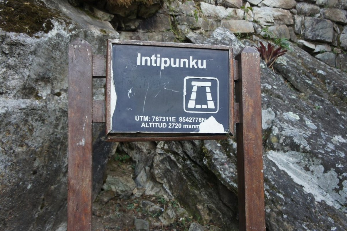Intipunku, or the sungate, is where the Inca Trail ends and is regarded as the pilgrim's entrance to Machu Picchu. Day visito