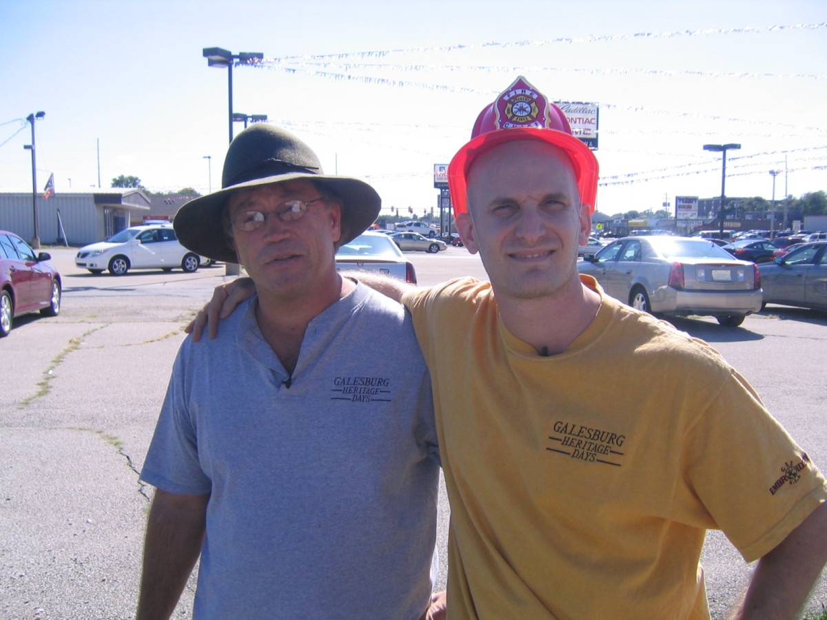 This is Bob from Galesburg the chap who let me stay with him and helped raise $100 for me to get to Denver by train. The whol