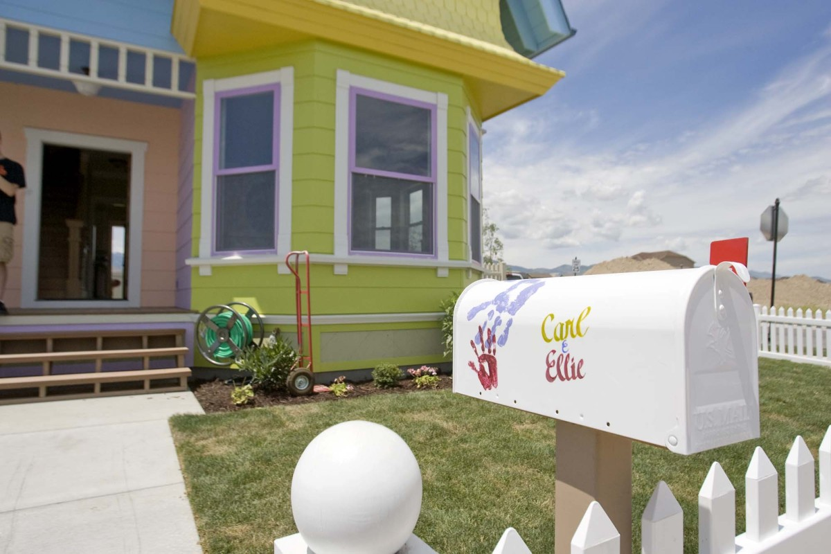 """This Wednesday, July 6, 2011 photo shows a full scale rendition of the house in the animated movie """"Up"""" located at 13215 S. 5"""