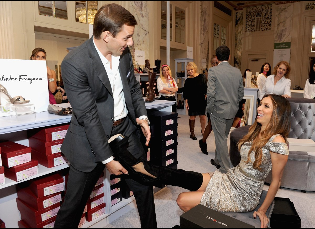 Bill Rancic and Giuliana Rancic attend the 18th Annual QVC 'FFANY Shoes On Sale' at The Waldorf=Astoria on October 13, 2011 i