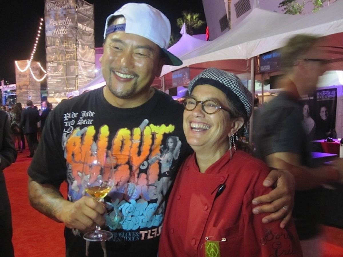 "Chefs <a href=""http://kogibbq.com/"" target=""_hplink"">Roy Choi</a> (not working) and <a href=""http://eatatstreet.com/"" target="