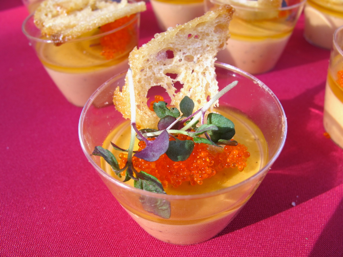 "<a href=""http://www.waterlooandcity.com/"" target=""_hplink"">Waterloo & City</a>'s smoked salmon and foie gras terrine was so r"