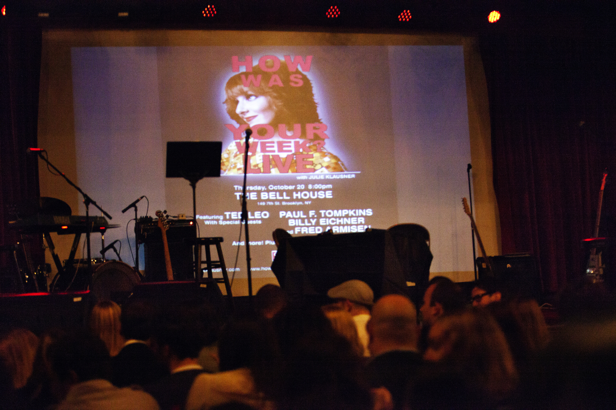 """The podcast was recorded at <a href=""""http://www.thebellhouseny.com/"""" target=""""_hplink"""">The Bell House</a> in Brooklyn, NY on O"""