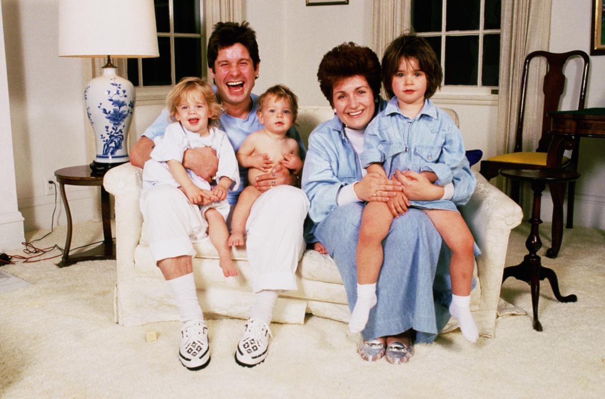From left to right, Kelly Osbourne, Ozzy Osbourne, Jack Osbourne, Sharon Osbourne and Aimee Osbourne. Getty