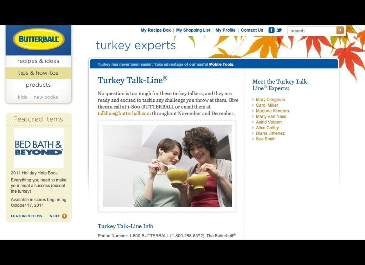 Open annually in November and December, the butterball hotline has been helping solve turkey dilemmas for 29 years. The opera