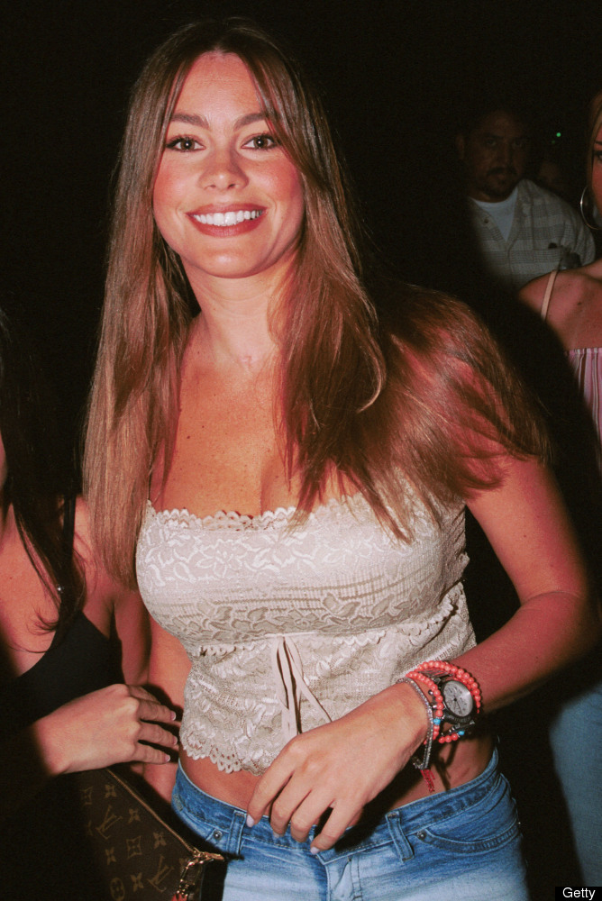 Actress Sofia Vergara poses outside Club A.D. on June 15, 2002 in Hollywood, California.