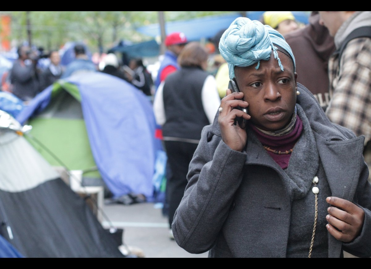Sparro Kennedy, of the Comfort Community at Zuccotti Park, home base for the Occupy Wall Street protests, has waged a fight w