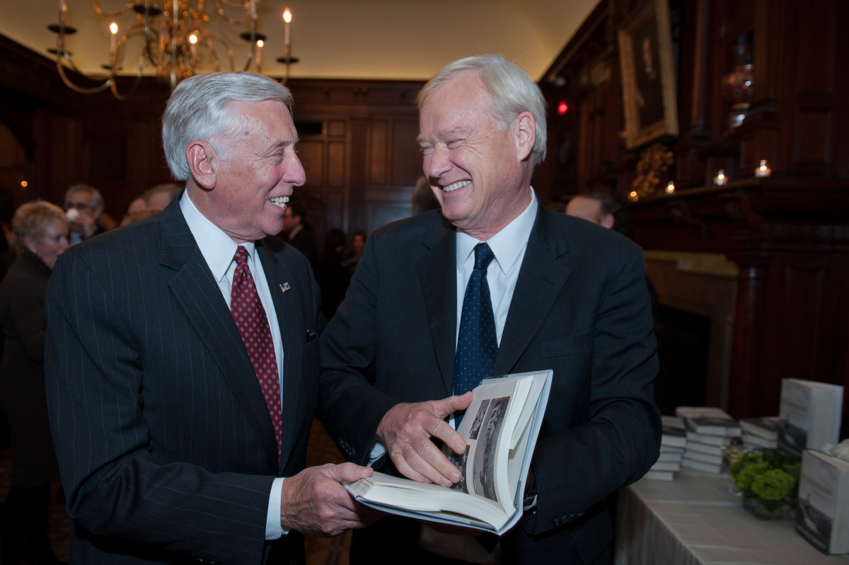 House Minority Whip Steny Hoyer (D-Md.) and Chris Matthews.