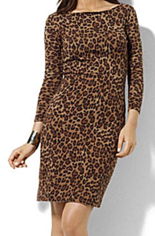"""<a href=""""http://www.dillards.com/product/Lauren-by-Ralph-Lauren-LeopardPrint-BateauNeck-Dress_301_-1_301_502805453?cm_mmc=Lin"""