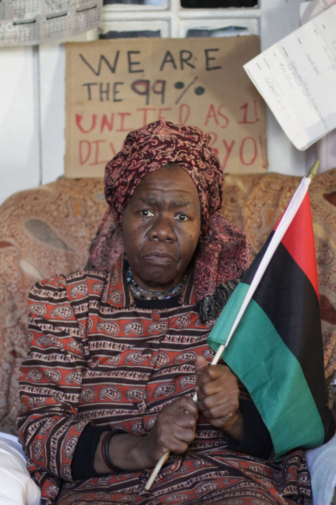 Queen Mother Dr. Delois Blakely at her apartment in Harlem, where Occupy Wall Street protesters occupied the building's basem