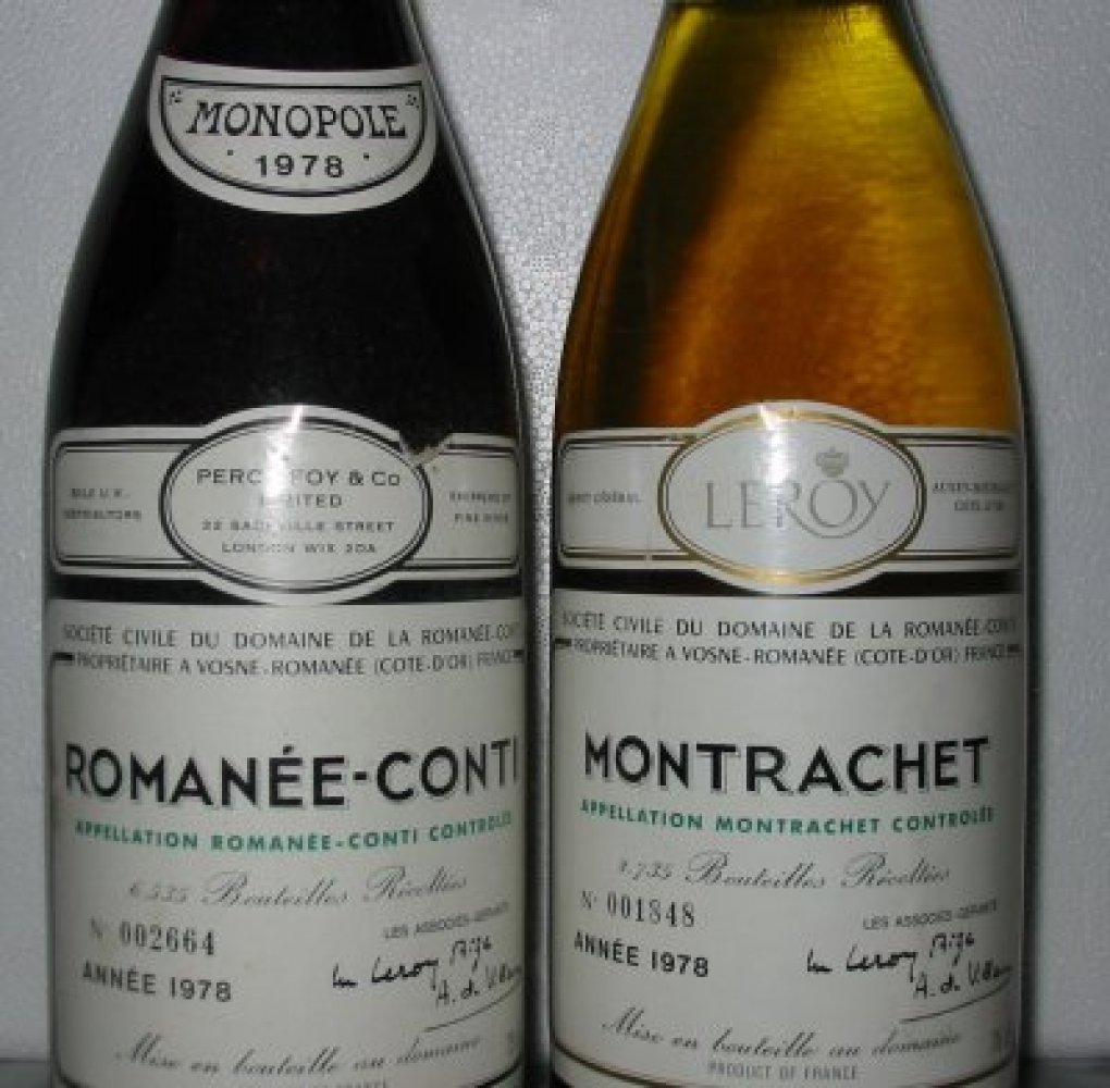 "A collection of seven bottles of white wine from Domaine de la Romanée-Conti sold for almost <a href=""http://topten.whatitcos"