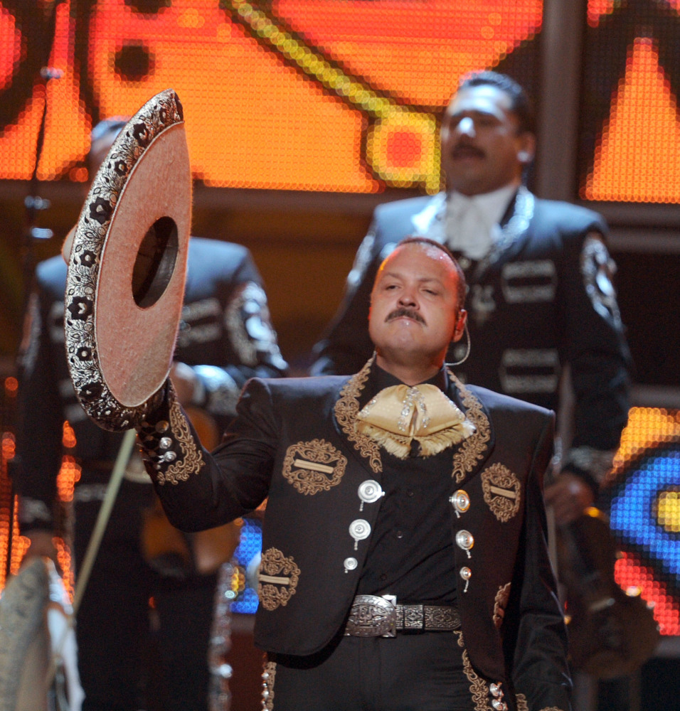 LAS VEGAS, NV - NOVEMBER 10:  Singer Pepe Aguilar performs onstage during the 12th annual Latin GRAMMY Awards at the Mandalay