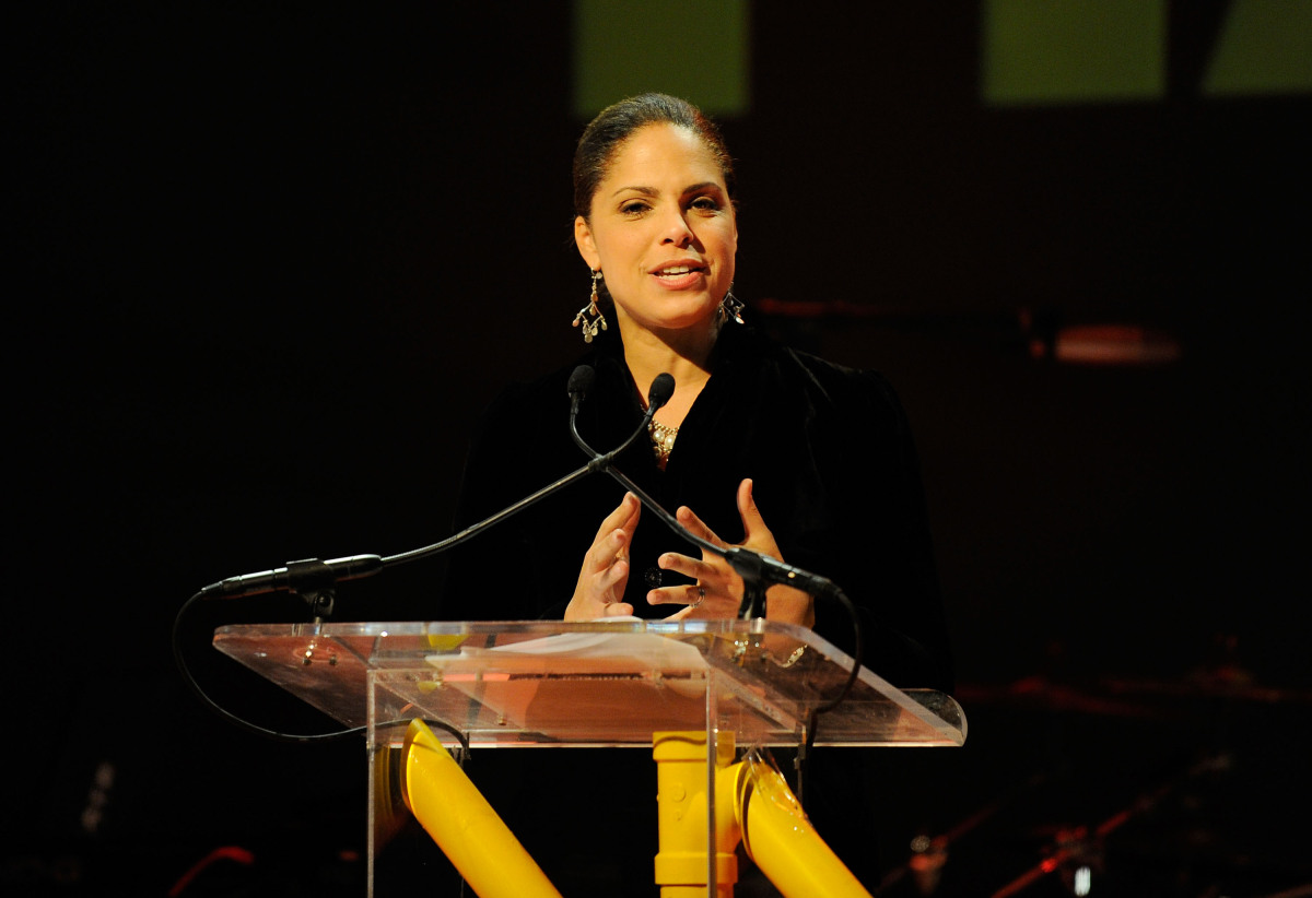 NEW YORK - FEBRUARY 08:  Soledad O'Brien speaks onstage at the Hope Help & Relief Haiti 'A Night Of Humanity' event at Urban
