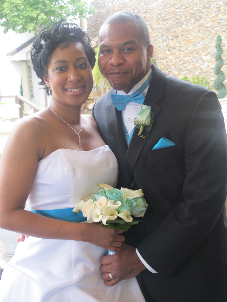 Patrice and Victor Mitchell chose to marry on 11/11/11 to celebrate Veteran's Day as Victor is an active army serviceman. The