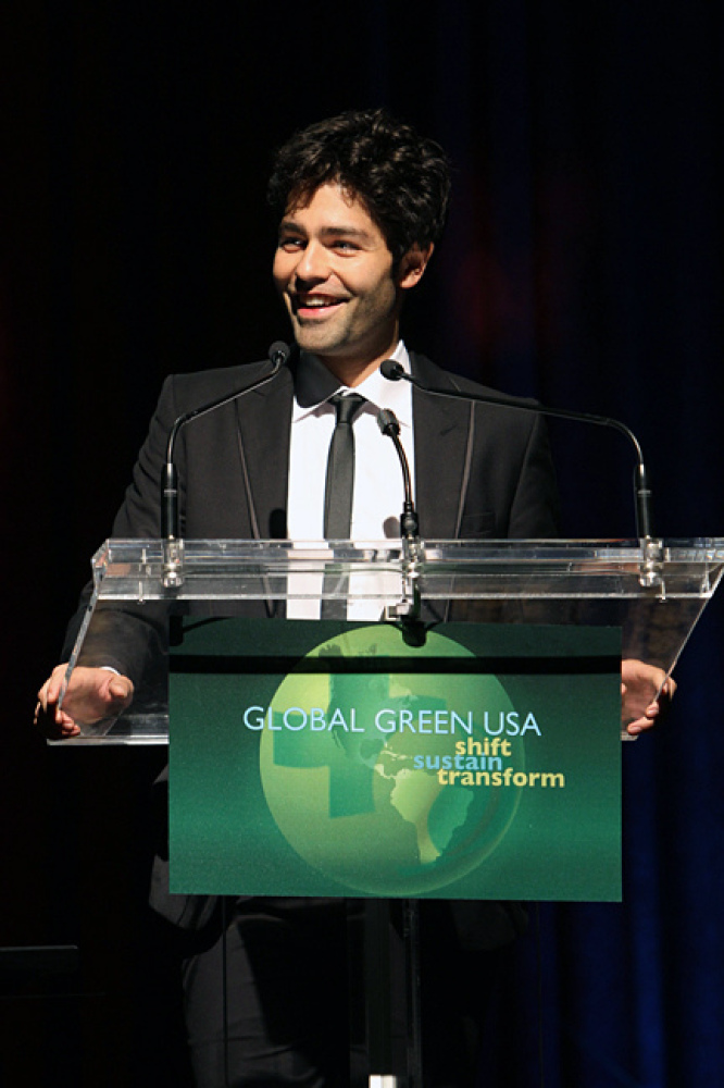 Actor and activist Adrian Grenier at Global Green USA's 12th Annual Sustainable Design Awards.