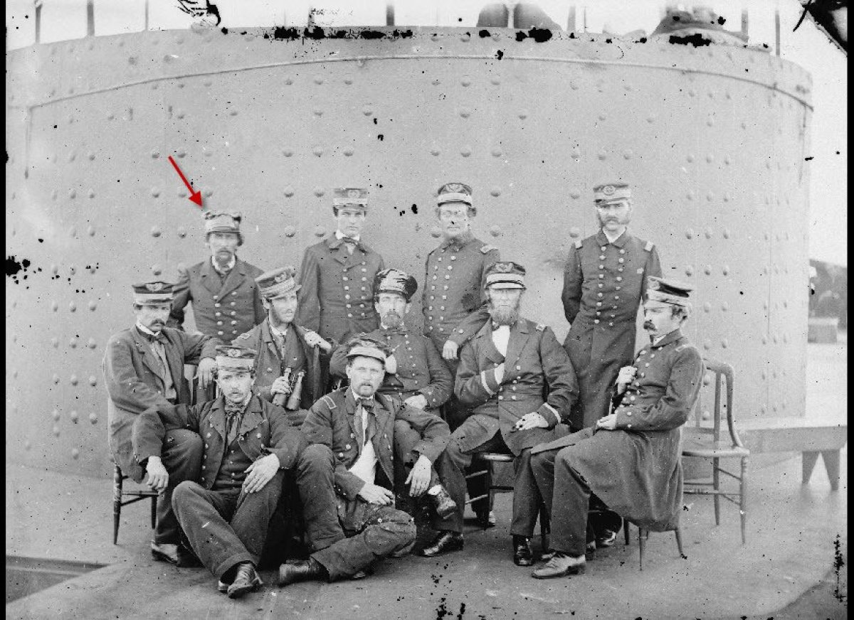Largely because Frederickson was an officer, it's possible to identify him in this well known photo James F. Gibson took of t