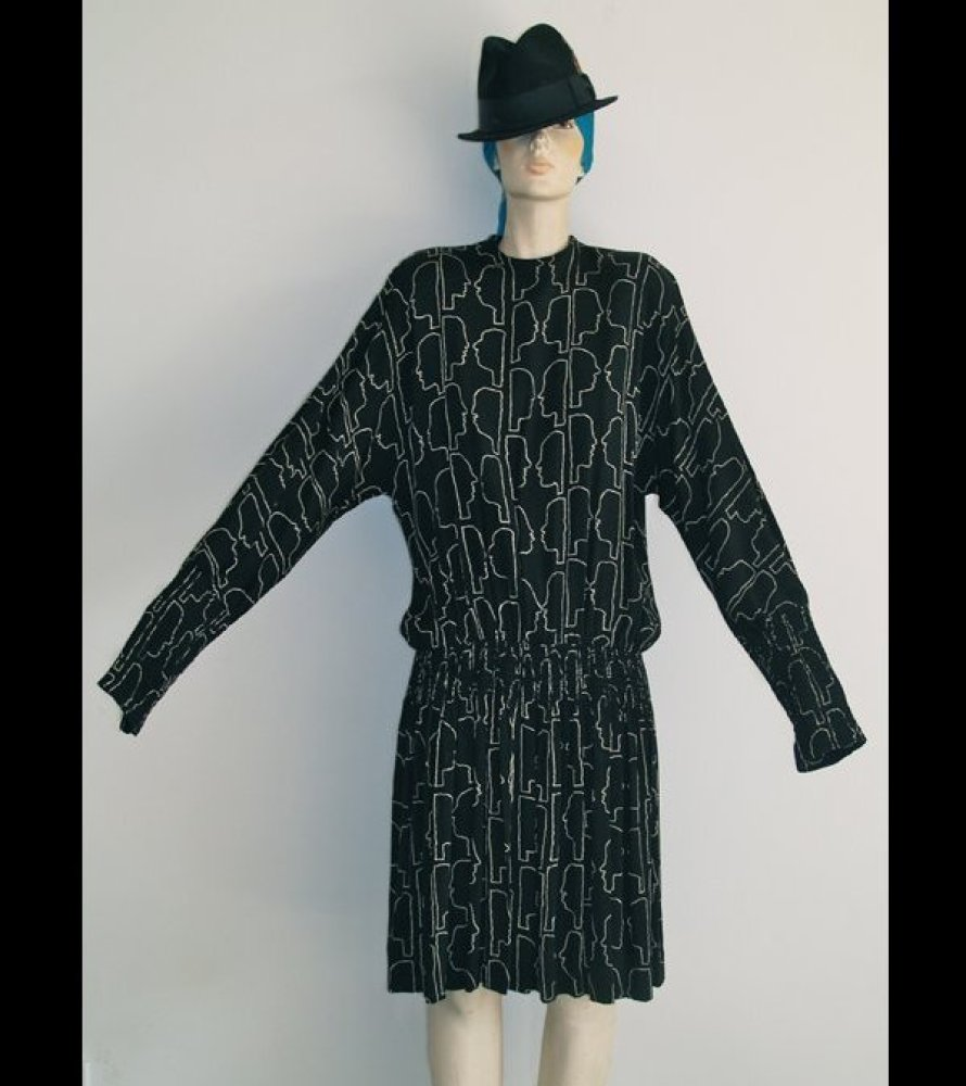 This is the original Nicole Miller dress from the '80's.