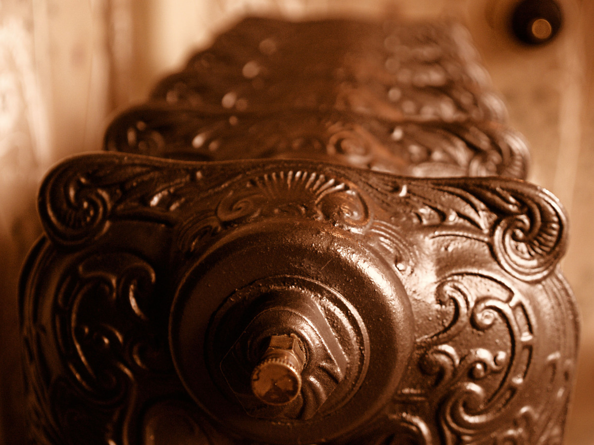 Your heater has rust or motor problems. When rust is exposed to heat, it gives of a sweet metallic smell, but this can come f