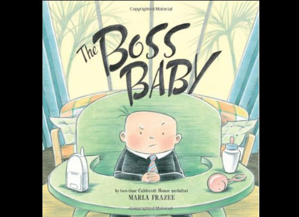 """A tongue-in-cheek look at a baby who is boss of the household.  <em>Buy this on <a href=""""http://www.amazon.com/Boss-Baby-Ma"""