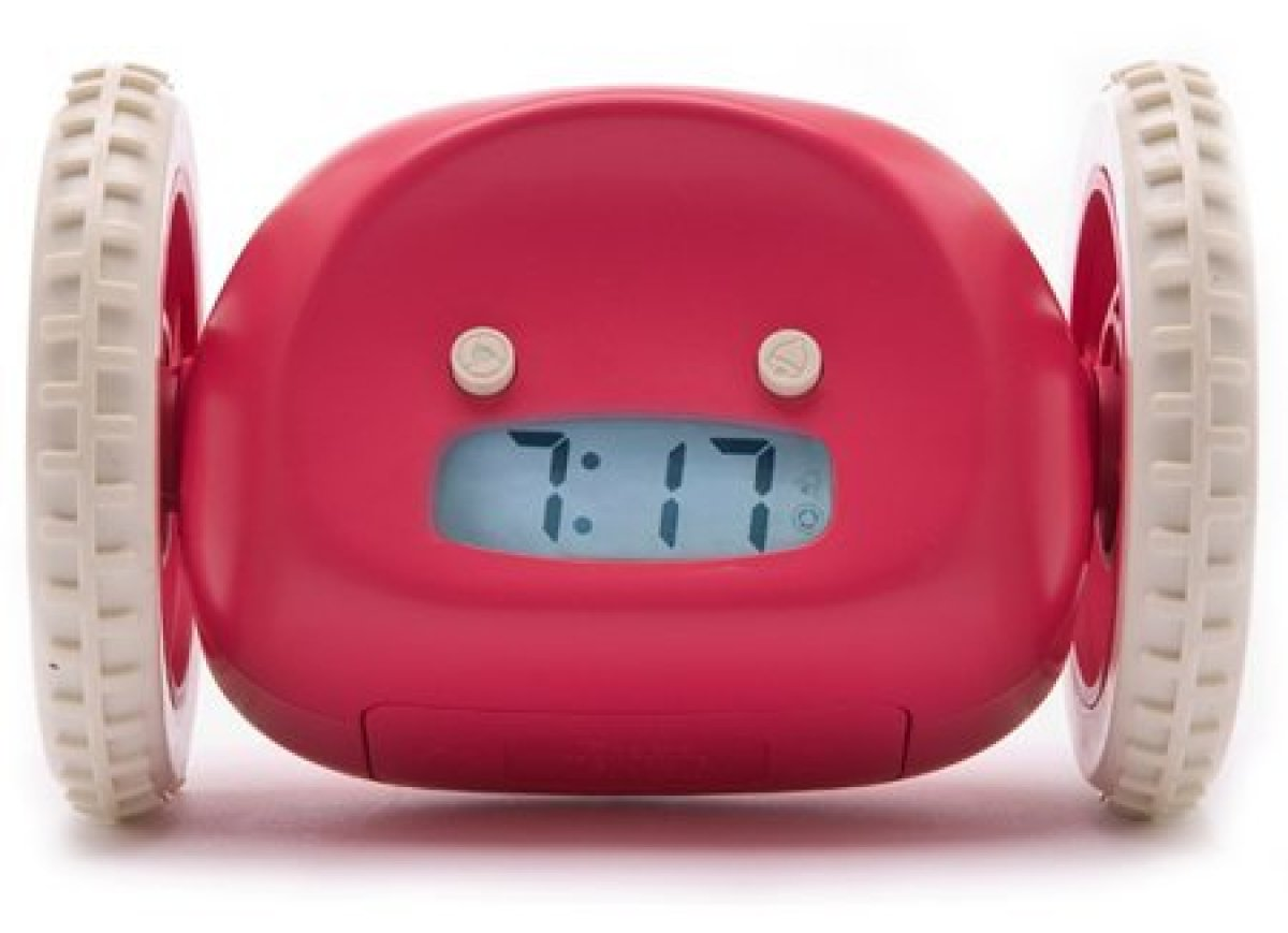 It would be pretty easy to catch an alarm clock on wheels in my shoebox apartment here in Manhattan, but for those of you wit