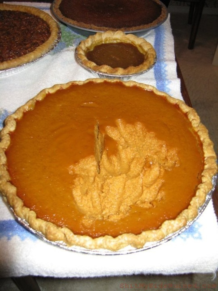 Who stole the pumpkin from the pumpkin pie? Lucy stole the pumpkin from the pumpkin pie. Who me? Yes you. Not me, couldn'