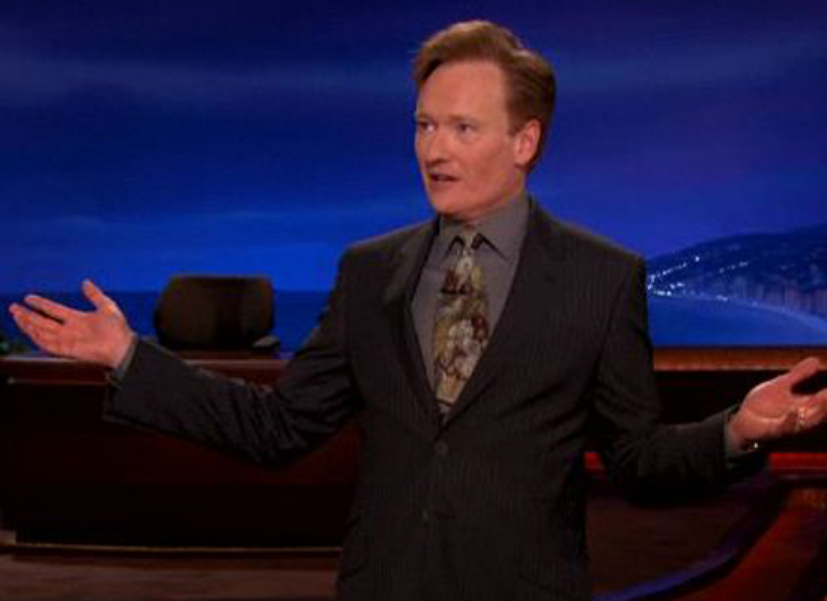 """<strong>Conan O'Brien:</strong> """"The turkey that President Obama will pardon this Thanksgiving is from California. The turkey"""