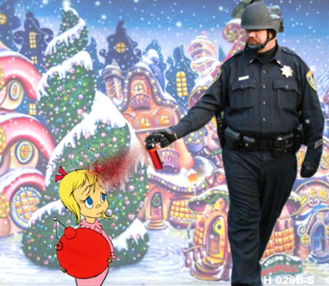 "The Pepper Spraying Cop is without a doubt the <a href=""http://www.huffingtonpost.com/2011/11/21/pepper-spray-cop-meme-is-_n_"