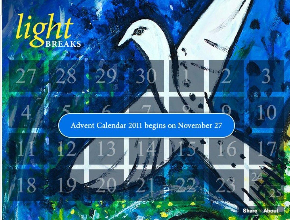 """From November 27 through December 25, <a href=""""http://www.trinitywallstreet.org/news/features/2011-advent-calendar"""" target=""""_"""