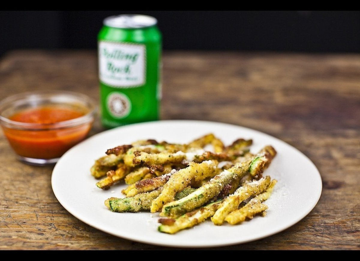 These zucchini fries are a summery alternative to French fries. Unlike the heavy starch associated with their potato kin, the