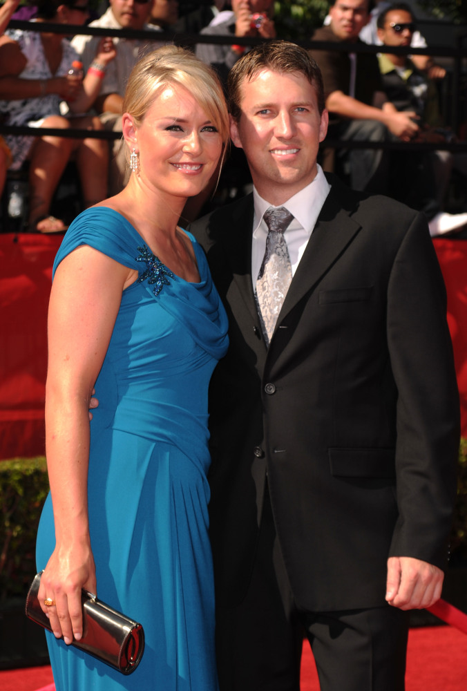 Olympic Skiier Lindsey Vonn (L) and husband Thomas Vonn arrive at the 2010 ESPY Awards at Nokia Theatre L.A. Live on July 14,
