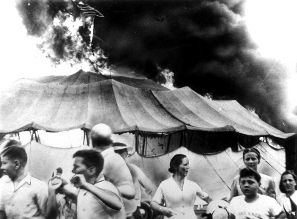 Photo from the Hartford Circus Fire on July 6, 1944.