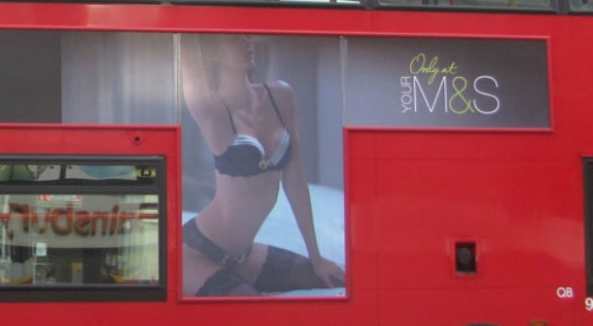 """Banned in November for <a href=""""http://fashion.telegraph.co.uk/news-features/TMG8924873/Marks-and-Spencer-lingerie-advert-ban"""