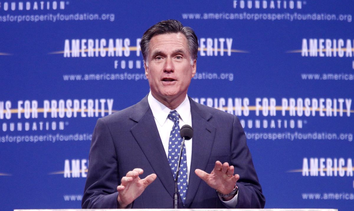 Speaking at the Pittsburgh Consol Energy Center in October, Romney expressed doubts that climate change is caused by humans.