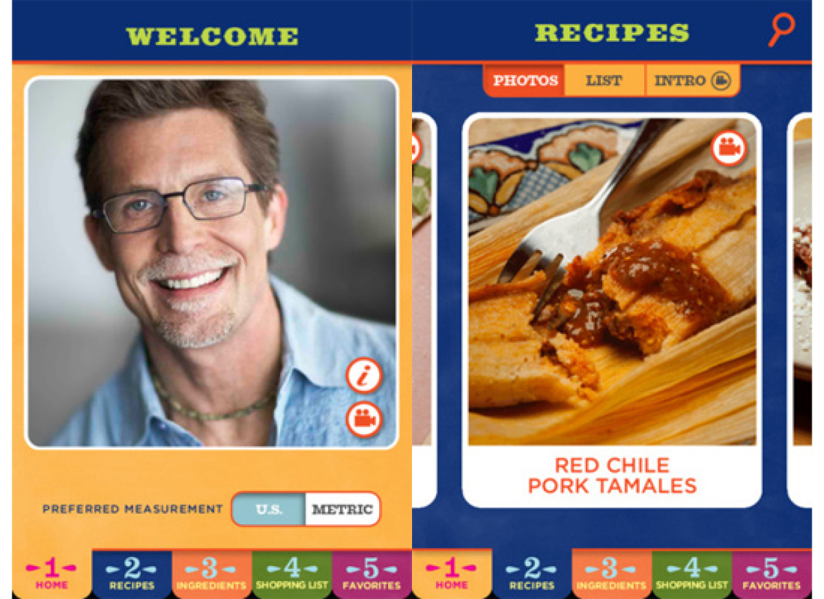 If there's one person who can expertly show you how to cook Mexican food, it's Rick Bayless. This brand new app from the awar