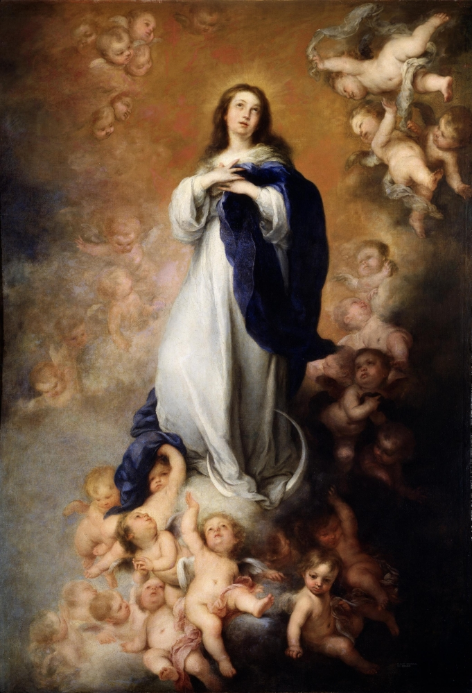 <em>La Purisima Inmaculada Concepcion</em> by Bartolomé Esteban Murillo, 1678, now in Museo del Prado, Spain.