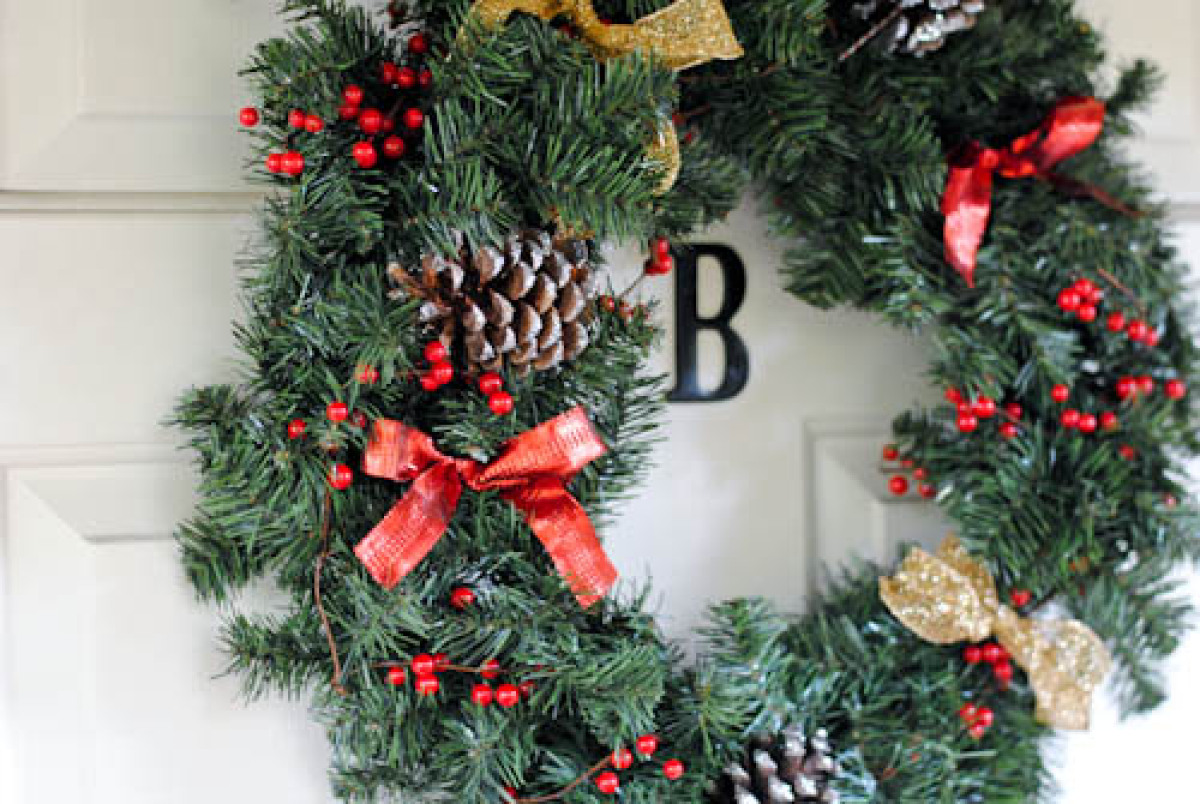 """I absolutely love my homemade wreath this year, it was such a fun and easy holiday DIY project!"" Says Stylelist blogger Kail"