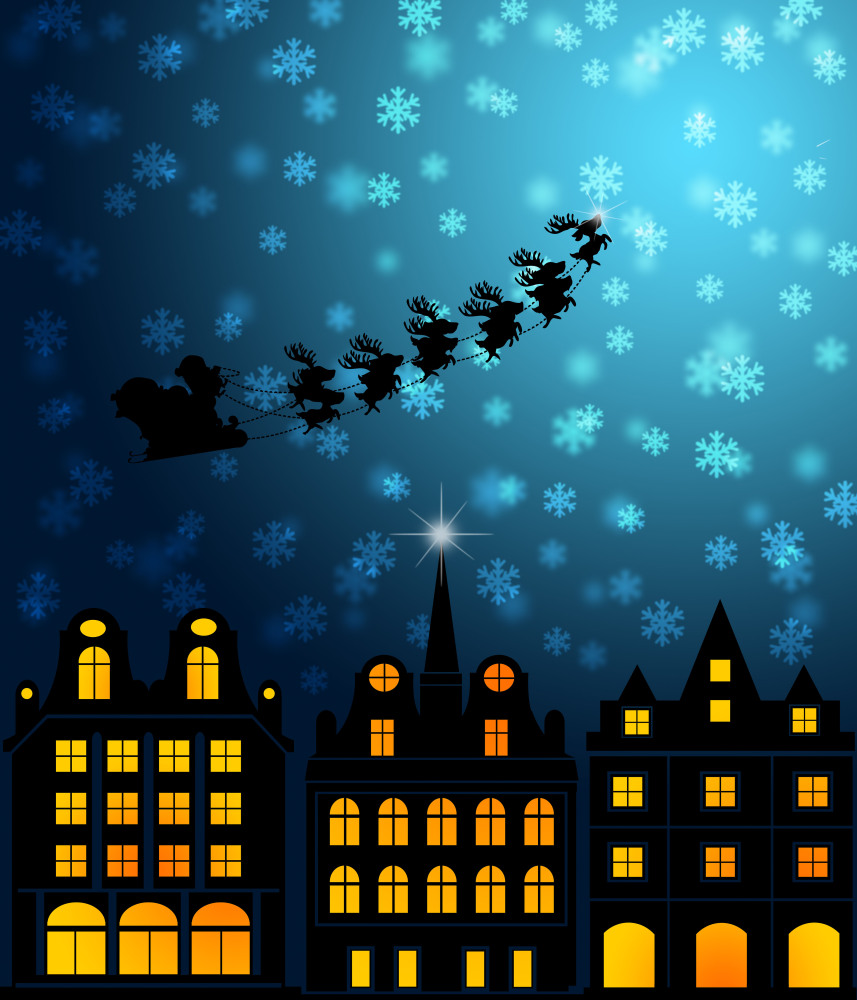 He may know when <em>you</em> are sleeping, but the only way for Santa to get the job done is to stay up all night on Decembe