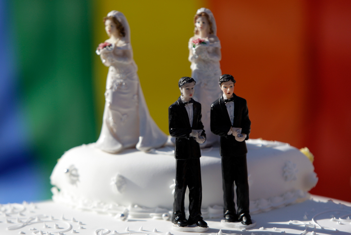 """An Iowa lesbian couple might have hoped to find a wedding cake that was both delicate and sweet, but they say <a href=""""https:"""