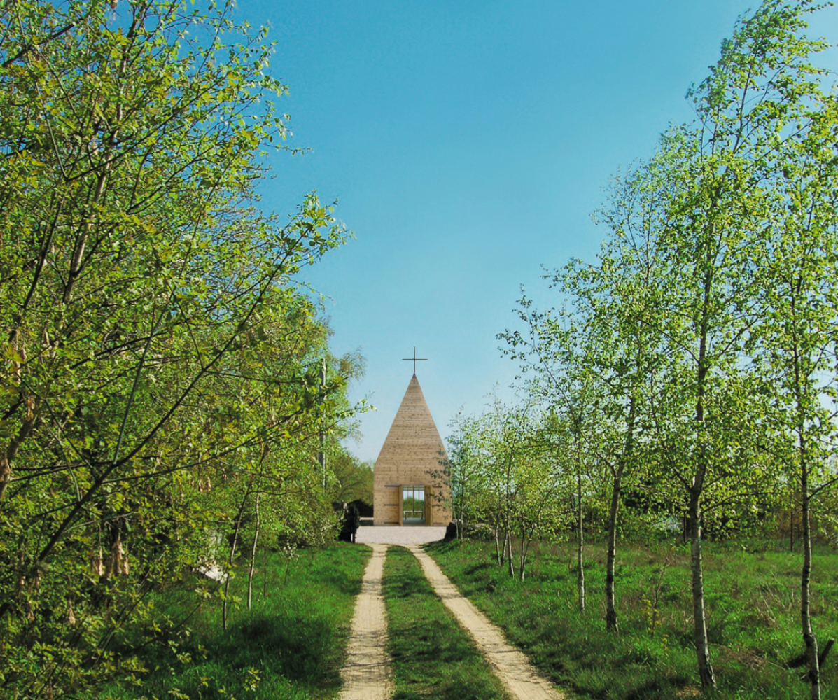 This small wooden church of rudimentary beauty and technical simplicity built on the high bank of the Vistula in Poland is a