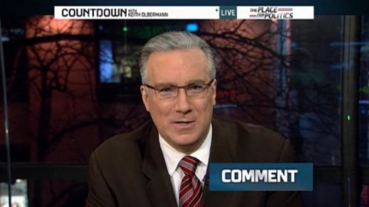 "Keith Olbermann <a href=""http://www.huffingtonpost.com/2011/01/21/keith-olbermann-countdown-over_n_812506.html"" target=""_hpli"